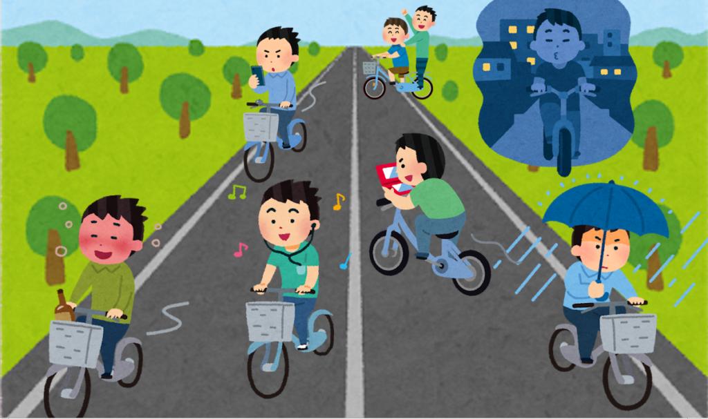 自転車は安全ルールを守る