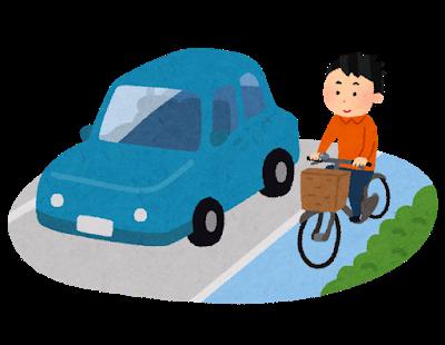 自転車は左側を通行しましょう