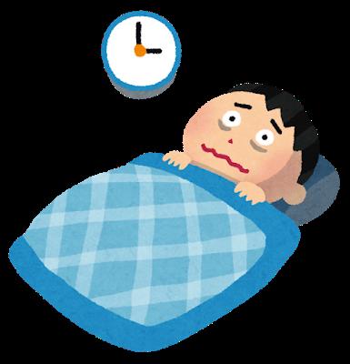 睡眠の質の低下