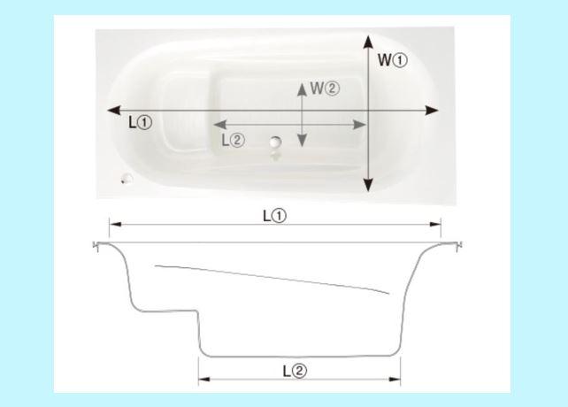 浴槽見取り図