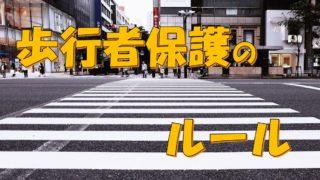 【学科試験問題集】歩行者保護に関する問題【教官が解説】