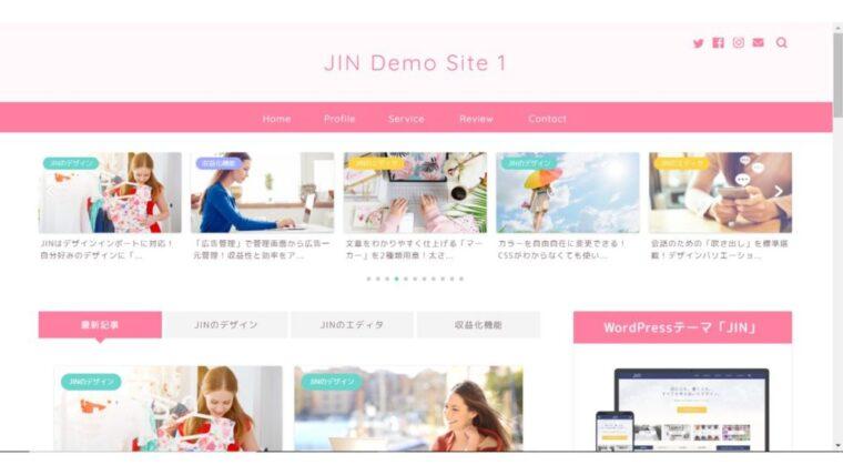 JINのテーマデモ